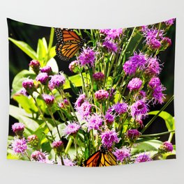 Monarch Butterfly Couple Wall Tapestry