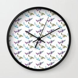 Prehistoric Shark Pattern Wall Clock