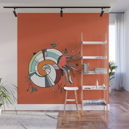Nautilus Orange Wall Mural