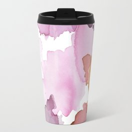 Inky abstract mark making painting print Travel Mug