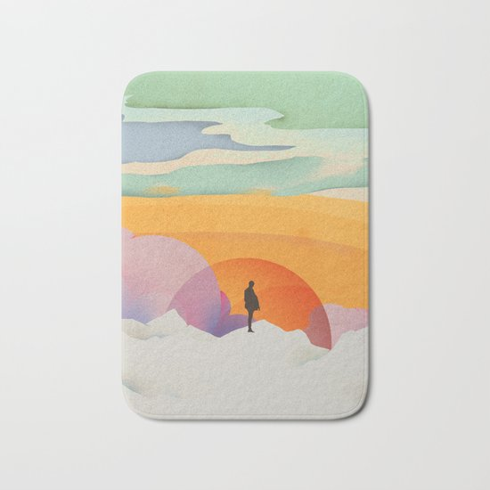 I Like to Watch the Sun Come Up - (White Version) Bath Mat
