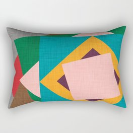 Kilim Flower grey Rectangular Pillow