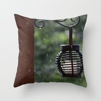 lantern Throw Pillows featuring Lantern by Lord Toby