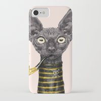 black cat iPhone & iPod Cases featuring Black Cat by dogooder