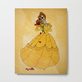 Day of the Dead/Belle Metal Print