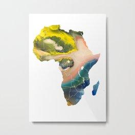 Africa map temperature Metal Print