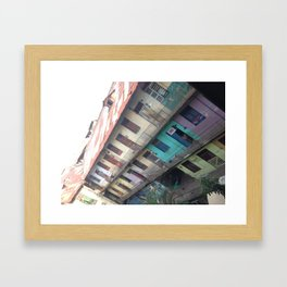 Patchwork living - Panama Framed Art Print