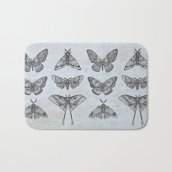 Moths & Butterflies Bath Mat