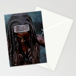 Michonne And Her Sword - The Walking Dead Stationery Cards