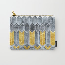 Turtle Shell Geometric | Art Deco Carry-All Pouch