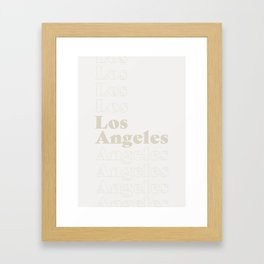 Los Angeles Type - Light Framed Art Print