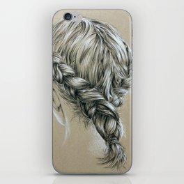 Girl with Braid iPhone Skin