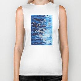 Blue waterfall encaustic painting Biker Tank