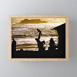 Modern Laguna Beach CA Sunset Framed Mini Art Print