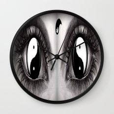 7 Eye Collection: Yin Yang In Your Eyes Wall Clock