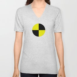 crash test dummies symbol  Unisex V-Neck