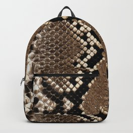 Faux Python Snake Skin Design Backpack