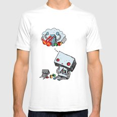 A Dream About the Future LARGE White Mens Fitted Tee