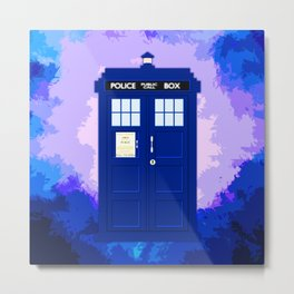 Tardis The Blue Phone Both Metal Print