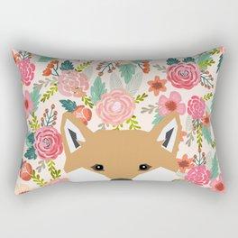 Shiba Inu floral dog face cute peeking shiba inus gifts Rectangular Pillow