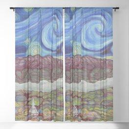 Sunny Starry Night Sheer Curtain
