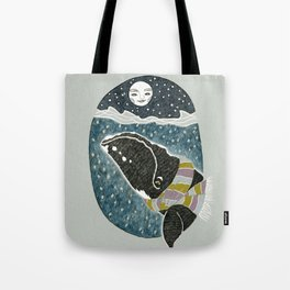 Whale and the Moon Tote Bag