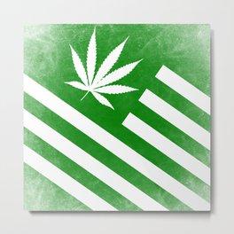 American High Distressed Flag Metal Print