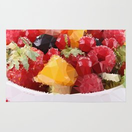 Fruits 2 Low Poly Rug