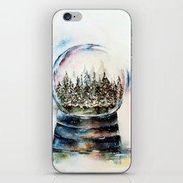 Snow globe - watercolour illustration iPhone Skin