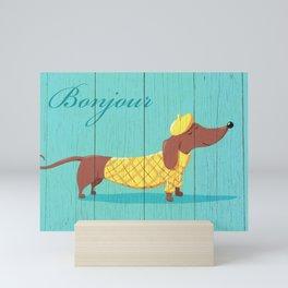 Bonjour Chiot Mini Art Print