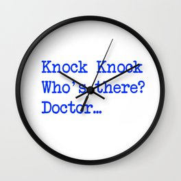 Knock-Knock 4 Wall Clock