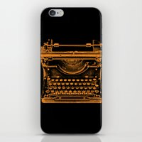 typewriter iPhone & iPod Skins featuring Typewriter by Jessica Slater Design & Illustration