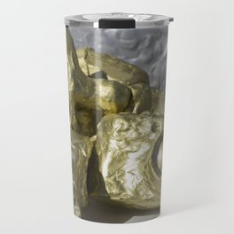 Gold Clay Camera Assemblage with Horse, No. 1 Travel Mug