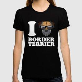 I Love Border Terrier modern v2 T-shirt