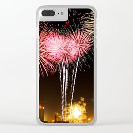 Leipzig Germany Fireworks On New Year's Eve Clear iPhone Case