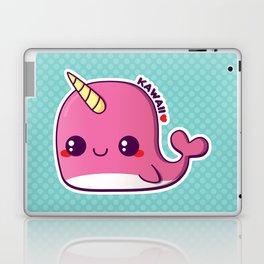 Kawaii Pink Narwhal Laptop & iPad Skin