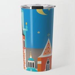 Krakow, Poland - Skyline Illustration by Loose Petals Travel Mug