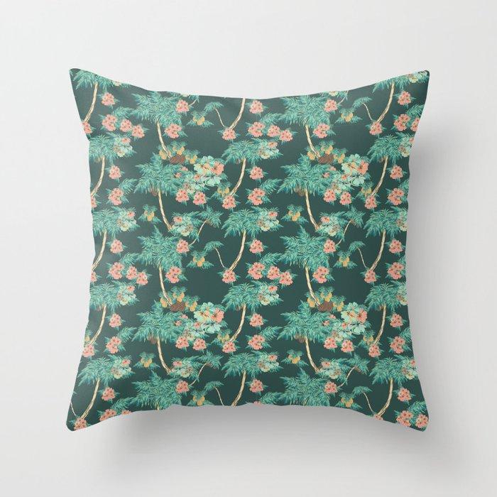 tropical night Throw Pillow