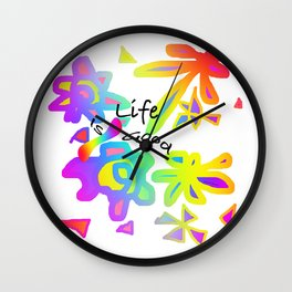 LIFE IS GOOD GRAPHIC DESIGN Wall Clock