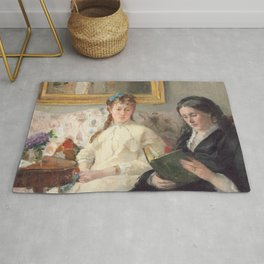 The Mother and Sister of the Artist - Marie-Joséphine & Edma by Berthe Morisot Rug