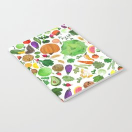 Fruit and Veg Pattern Notebook