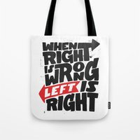 politics Tote Bags featuring Directions and politics by Johan Thuresson
