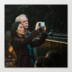 Donald & Lucy take photoraphs Canvas Print