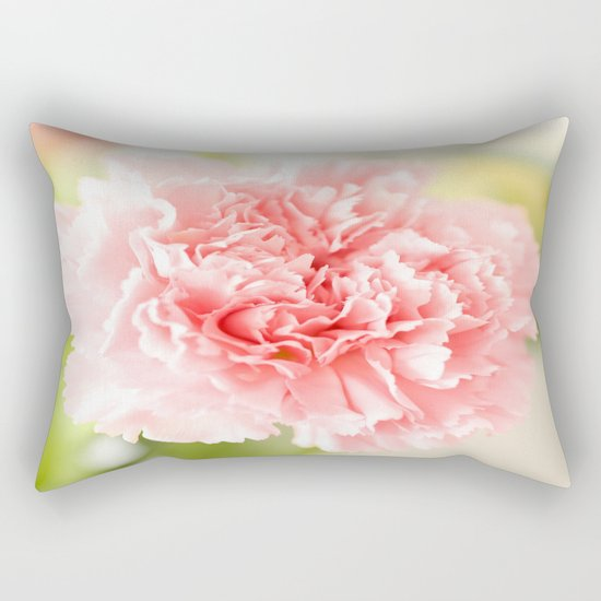 Pink Carnation Admiration  Rectangular Pillow
