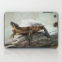 turtle iPad Cases featuring turtle by Tanja Riedel