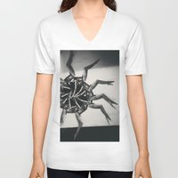 legs V-neck T-shirts featuring legs on legs by victoriajdesign