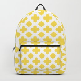 Stars & Crosses Pattern: Yellow Backpack