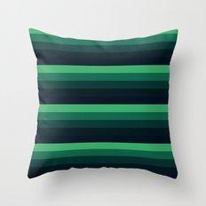 forest Green stripes Throw Pillow