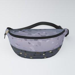 Pink-grey ,blue combo pattern . Fanny Pack