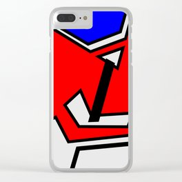 Abstract geometrical pattern in constructivism style Clear iPhone Case